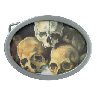Cezanne Pyramid of Skulls Oval Belt Buckle
