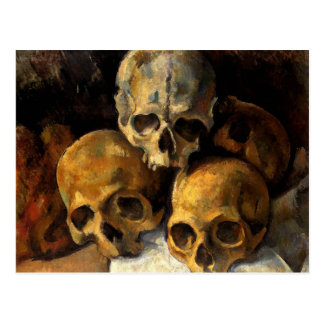Cezanne - Pyramid of Skulls Postcard