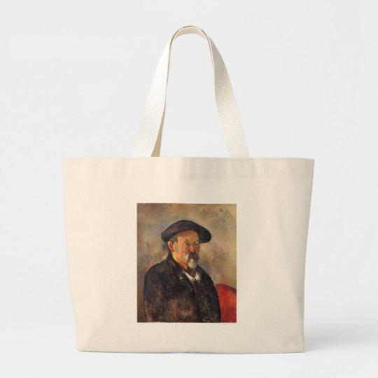 Cezanne - Self portrait with Barett Large Tote Bag