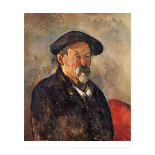 Cezanne - Self portrait with Barett Postcard