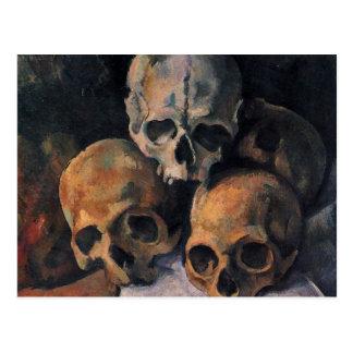 Cezanne Skull Pyramid Postcard