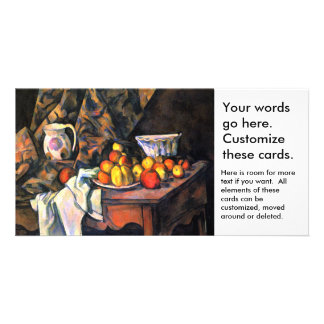Cezanne still life apples peaches vase pretty art photo card