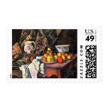 Cezanne still life apples peaches vase pretty art postage stamp