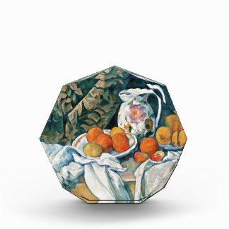 Cezanne Still Life Curtain,Flowered Pitcher,Fruit Acrylic Award