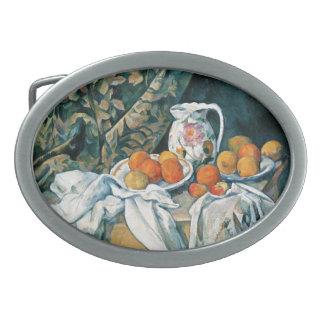 Cezanne Still Life Curtain,Flowered Pitcher,Fruit Belt Buckle