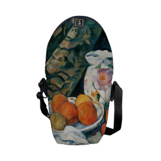 Cezanne Still Life Curtain,Flowered Pitcher,Fruit Courier Bag