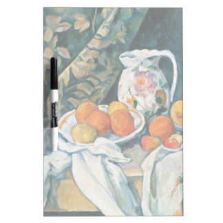Cezanne Still Life Curtain,Flowered Pitcher,Fruit Dry-Erase Boards