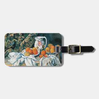Cezanne Still Life Curtain,Flowered Pitcher,Fruit Luggage Tags