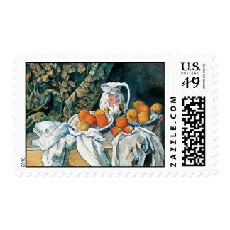 Cezanne Still Life Curtain,Flowered Pitcher,Fruit Postage