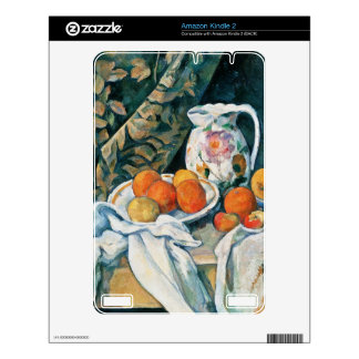 Cezanne Still Life Curtain,Flowered Pitcher,Fruit Kindle 2 Skins