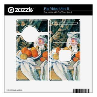 Cezanne Still Life Curtain,Flowered Pitcher,Fruit Decal For Flip Ultra II