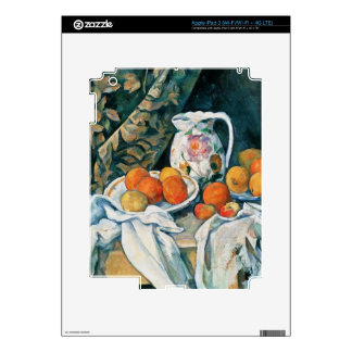 Cezanne Still Life Curtain,Flowered Pitcher,Fruit Skin For iPad 3