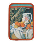 Cezanne Still Life Curtain,Flowered Pitcher,Fruit Sleeve For iPad Mini