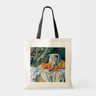 Cezanne Still Life Curtain,Flowered Pitcher,Fruit Tote Bag