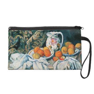 Cezanne Still Life Curtain,Flowered Pitcher,Fruit Wristlet
