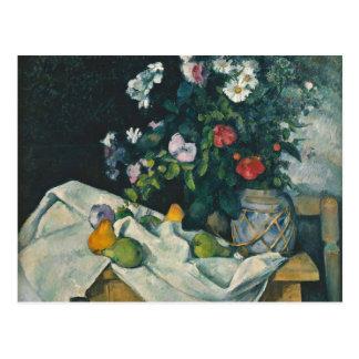 Cézanne Still Life Flowers and Fruit Fine Art Postcard