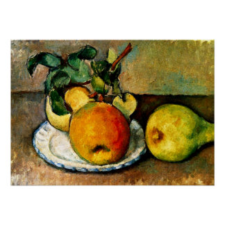 Cezanne - Still Life with Apples and Pears Poster