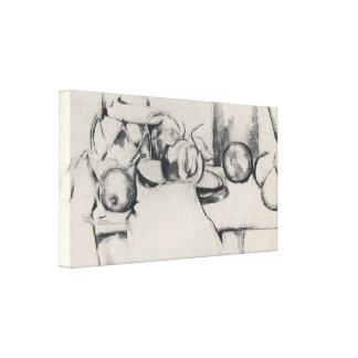 Cezanne - Still life with Gingerpot and Fruit Canvas Print