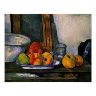 Cézanne, Still life with open Drawer Poster