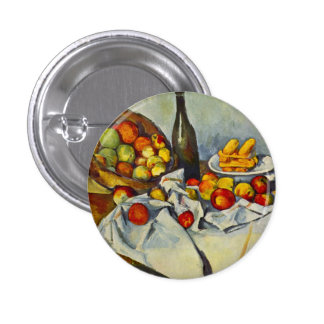 Cezanne The Basket of Apples Button