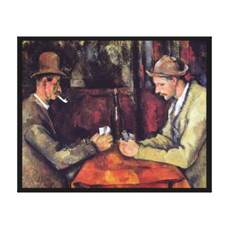 Cezanne - The Card Players Stretched Canvas Prints