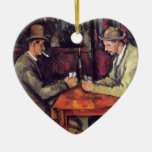 Cezanne - The Card Players - Poker Ceramic Ornament