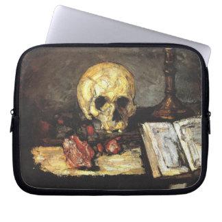 Cezanne - todavía vida con el cráneo fundas computadoras