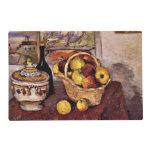 Cezanne - todavía vida con la sopera de sopa tapete individual