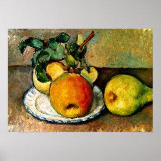 Cezanne - todavía vida con las manzanas y las poster