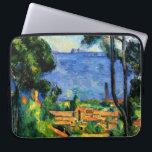 "Cezanne - View of l&#39;Estaque Computer Sleeve<br><div class=""desc"">Paul Cezanne art,  View of l&#39;Estaque,  fine art laptop sleeve.</div>"