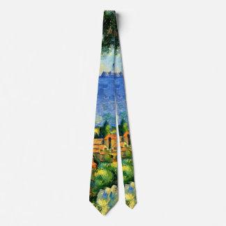 Cezanne - View of l'Estaque Neck Tie