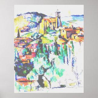 Cezanne Village at Gardanne Poster