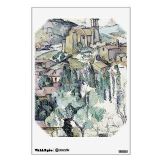 cezanne - village at gardanne wall sticker
