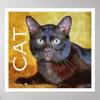 Cezanne's cat posters