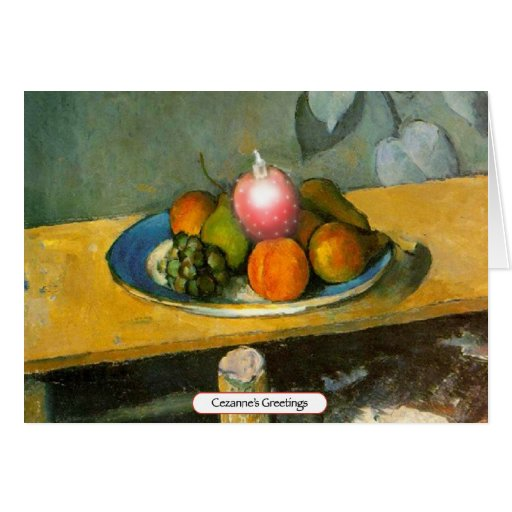 """Cezanne's Greetings"" - Christmas Card"