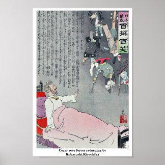 Cezar sees forces returning by Kobayashi,Kiyochika Posters