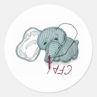 CF4L Hellephant Classic Round Sticker