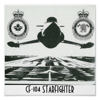 CF-104 STARFIGHTER CANVAS PRINT