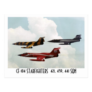 CF-104 STARFIGHTER POSTCARD