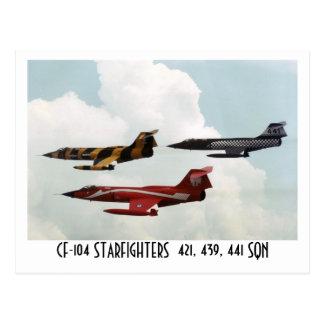 CF-104 STARFIGHTER TARJETA POSTAL