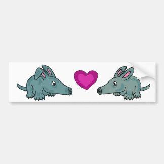 CF- Aardvark Love Bumper Sticker