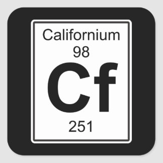 Cf - californio pegatina cuadrada