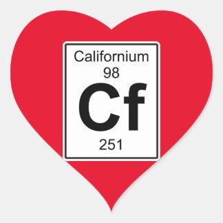 Cf - californio pegatina en forma de corazón