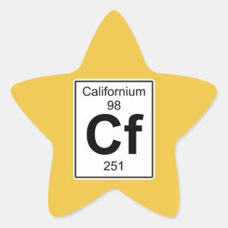 Cf - californio pegatina en forma de estrella