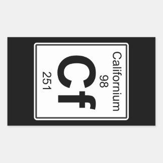Cf - californio pegatina rectangular