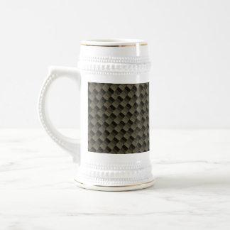 CF Carbonfiber Textured Beer Stein