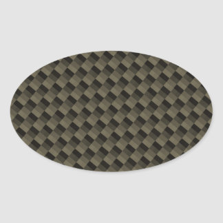 CF Carbonfiber Textured Oval Sticker