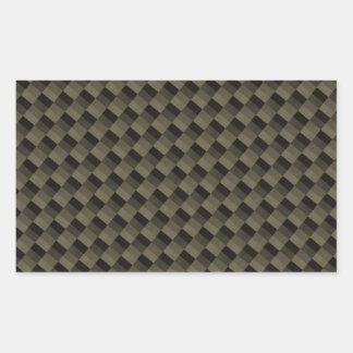 CF Carbonfiber texturizado Rectangular Pegatina