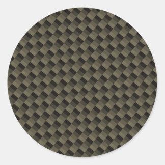 CF Carbonfiber texturizado Etiqueta Redonda