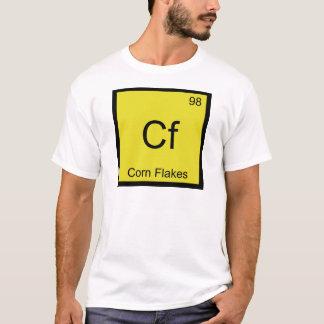 Cf - cereal T del símbolo del elemento de la Playera